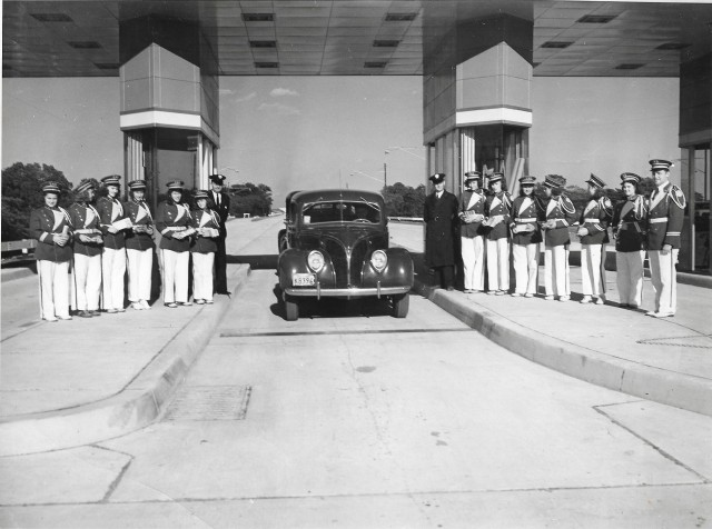 CHS Band at opening of Turnpike 10-10-1940