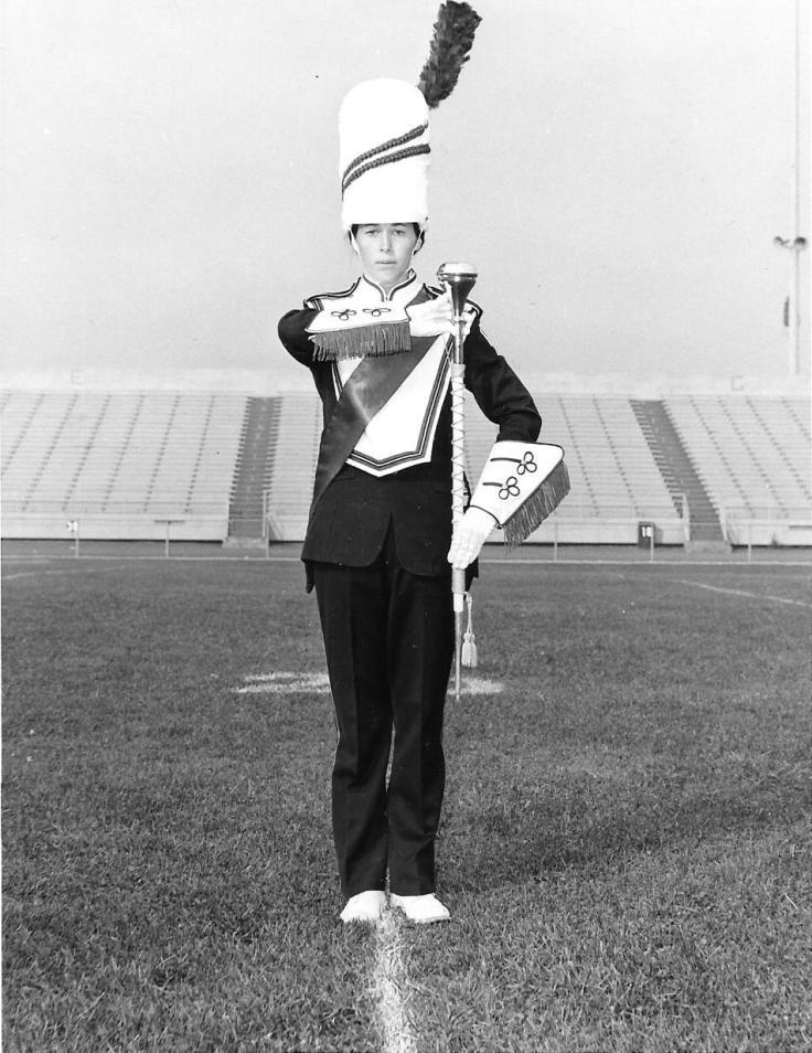 Joyce Croft - Drum Major 1974-75