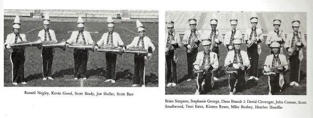 1985-86 Band Sections 3 (Tubas and Alto Saxes)
