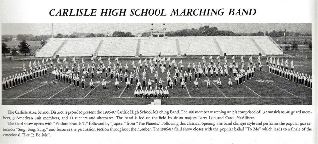 1986-87 CHS Band with Band write-up