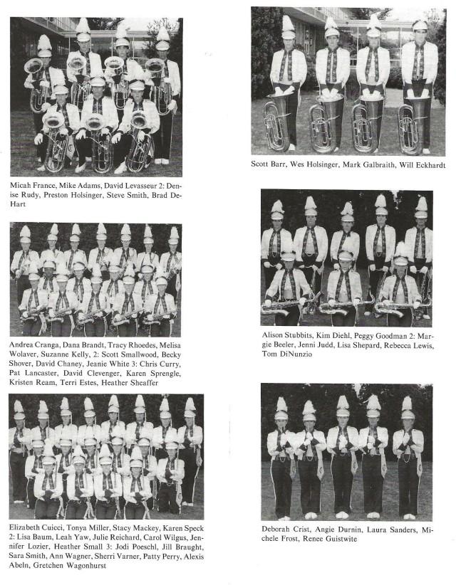 1987-88 Band Sections (Baritones, Tubas, Alto Saxes, Tenor Saxes, Flutes, and Piccolos)