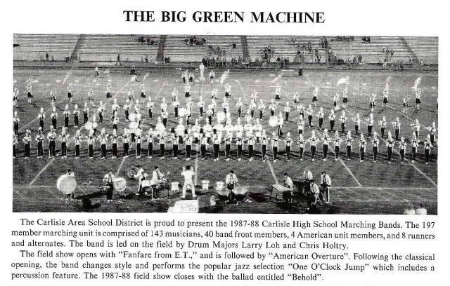 1987-88 CHS Band with Band write up