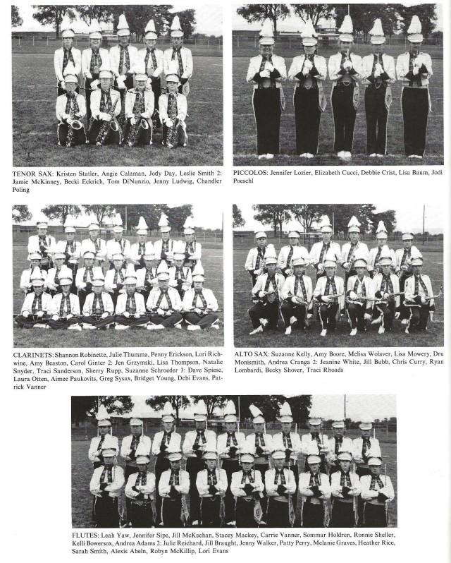 1989-90 Band Sections 2 (Tenor Saxes, Piccolos, Clarinets, Alto Saxes, and Flutes)