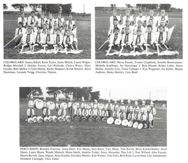 1989-90 Band Sections 3 (Color Guard 1 and 2, and Percussion