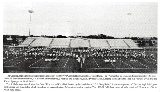 1989-90 CHS Band with band write up
