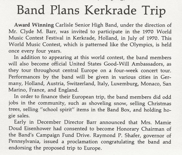 1969-70 Band trip write-up