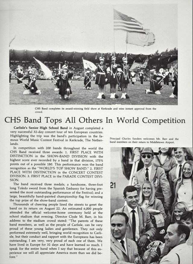 1969-70 CHS Band World Competition