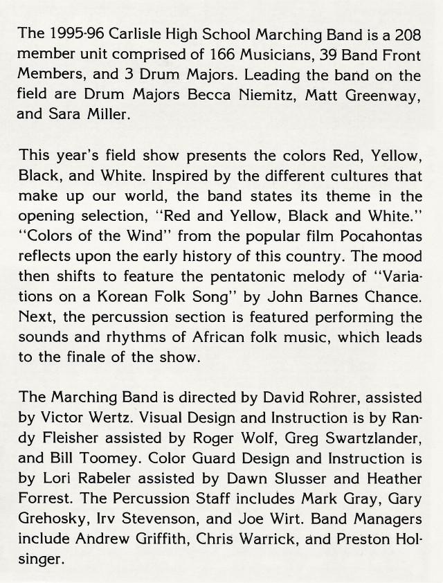 1995-96 Band write-up
