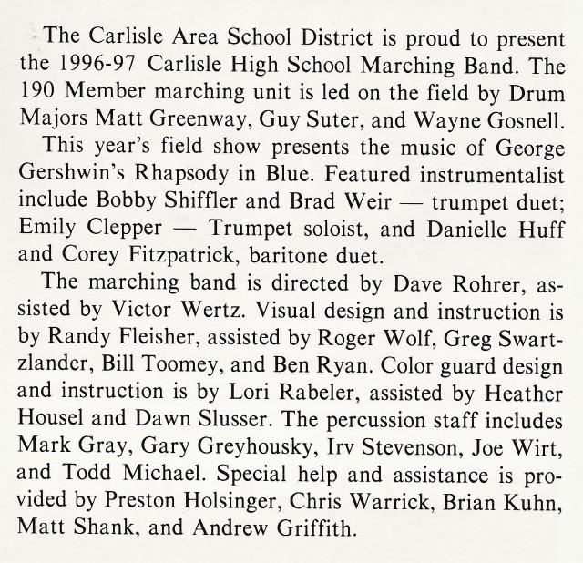 1996-97 Band write-up