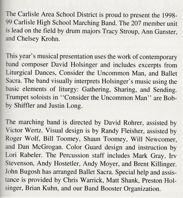 1998-99 Band write-up