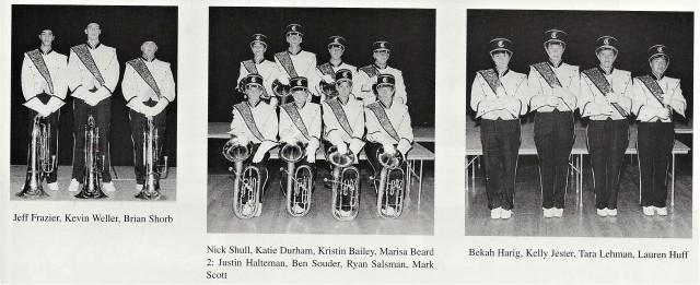 1999-2000 CHS Tubas, Baritones, and Piccolos